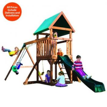 Kids Creations High Flyer Wood Playset