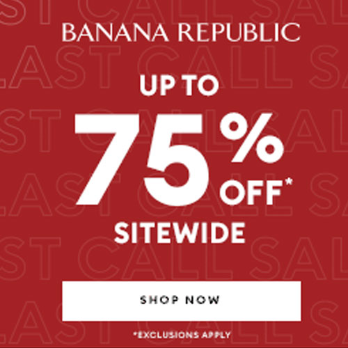 Banana Republic Winter Sale: Up to 75% off Sale Styles + Extra 20% off