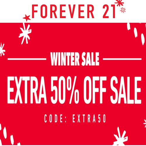 Forever 21 The Winter Sale: Extra 50% off on Sale Styles