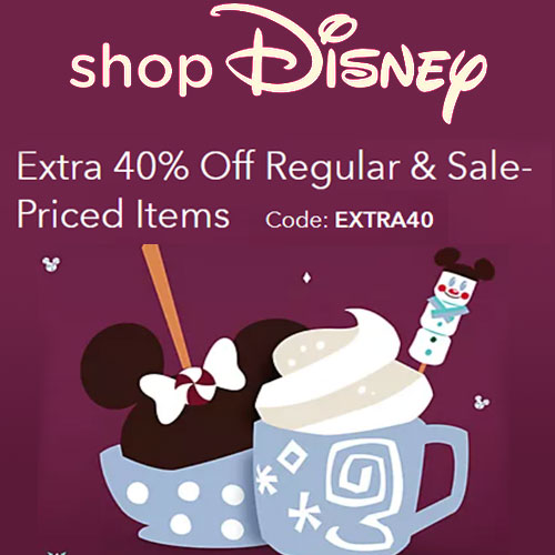Extra 40% off on Regular & Sale-Priced Items at shopDisney