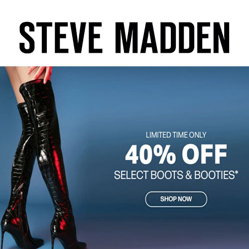 40% off on Select Boots and Booties at Steve Madden